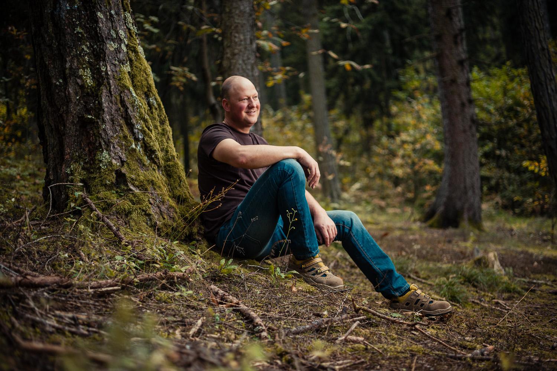 Oswald Gröss im Wald